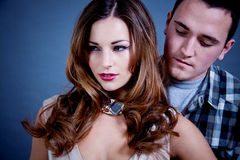 Attractive young couple glamour styling Royalty Free Stock Photos