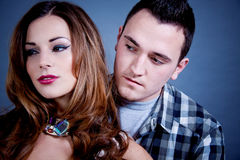 Attractive young couple glamour styling Royalty Free Stock Image