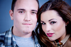 Attractive young couple glamour styling Royalty Free Stock Photo