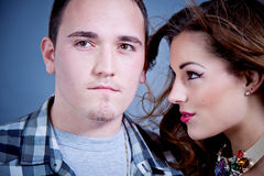 Attractive young couple glamour styling Stock Image