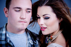 Attractive young couple glamour styling Stock Images