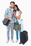 Attractive young couple going on their holidays Royalty Free Stock Photo