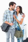 Attractive young couple going on their holidays Royalty Free Stock Photography