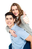 Attractive young couple having fun Royalty Free Stock Image