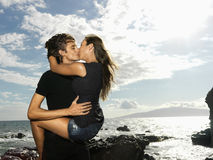Attractive Young Couple Kissing Royalty Free Stock Photos