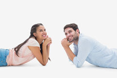 Attractive young couple looking up Royalty Free Stock Images