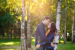 Attractive young couple in love Stock Image
