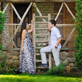 Attractive young couple in love outdoors Royalty Free Stock Photo