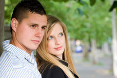 Attractive young couple outdoors. Stock Images