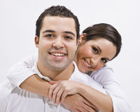 Attractive Young Couple Posing Royalty Free Stock Photography