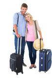 Attractive young couple ready to go on vacation Royalty Free Stock Photography