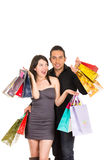 Attractive young couple shopping Stock Images