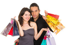 Attractive young couple shopping Royalty Free Stock Photography