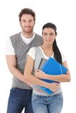 Attractive young couple smiling Royalty Free Stock Photo