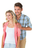 Attractive young couple smiling together Royalty Free Stock Photography