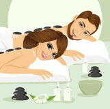 Attractive young couple on a spa Royalty Free Stock Photography