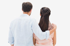 Attractive young couple standing and looking Royalty Free Stock Photo