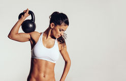 Attractive young with doing crossfit workout Stock Photo