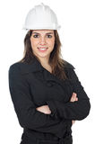 Attractive young engineer. Over a white background Stock Image