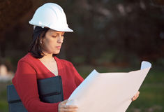 Attractive young engineer Stock Photo