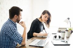 Business partners working together Royalty Free Stock Photo