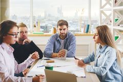 Discussion and solution concept Stock Photo