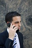 Attractive Young Executive on Cell Phone Stock Photography