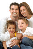 Attractive young family royalty free stock images