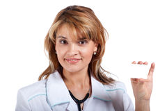 Attractive young female doctor Stock Photos