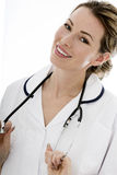 Attractive Young Female Doctor With a Stethoscope Royalty Free Stock Photos