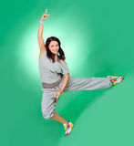 Attractive young female in stretching Stock Photos