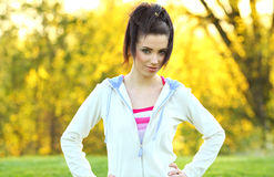 Attractive young fitness woman Stock Photos