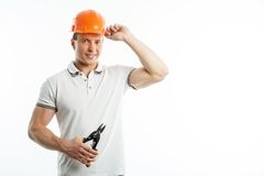 Attractive young foreman is ready to work Royalty Free Stock Photography