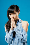 Attractive young girl Stock Images