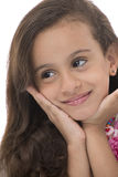 Attractive Young Girl With Beautiful Smile Looking Away Stock Images