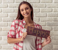 Attractive young girl Royalty Free Stock Photography