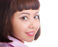 Attractive young girl closeup Royalty Free Stock Photography
