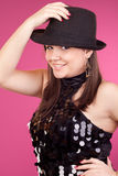 Attractive young girl dancing Royalty Free Stock Photography
