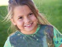Attractive young girl enjoying outdoor Stock Photos