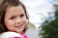 Attractive young girl enjoying outdoor Stock Photography