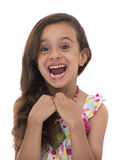 Attractive Young Girl With Funny Smile Stock Images