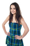 Attractive young girl with hands on waist Stock Photography