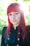 Attractive young girl with red hair Stock Image