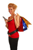 Attractive young girl shopping Royalty Free Stock Photo