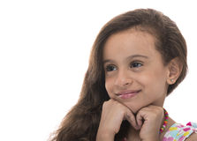 Attractive Young Girl With a Smile Looking Away Stock Photo