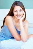 Attractive young girl smiling Stock Photography