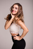 Attractive young girl smiling. Royalty Free Stock Photos