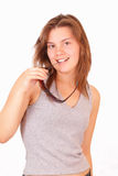 Attractive young girl with sunglasses Royalty Free Stock Images