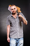 Attractive young guitarist Royalty Free Stock Images