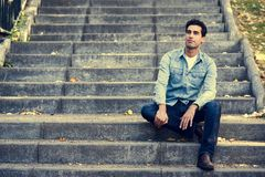 Free Attractive Young Handsome Man, Model Of Fashion In Urban Backgro Stock Photography - 103699982
